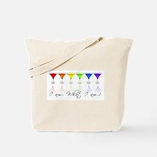 rainbow martinis Tote Bag