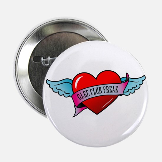 """Banner, Heart & Wings - Glee 2.25"""" Button"""
