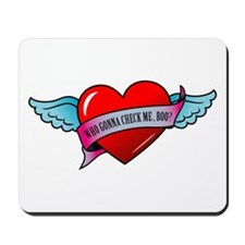 Banner, Heart & Wings - Who G Mousepad