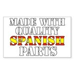 Quality Spanish Parts Sticker (Rectangle)