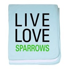 Live Love Sparrows baby blanket
