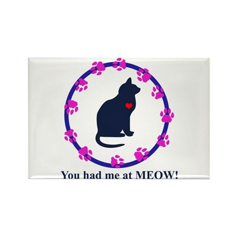 You Had Me at Meow Rectangle Magnet (100 pack)