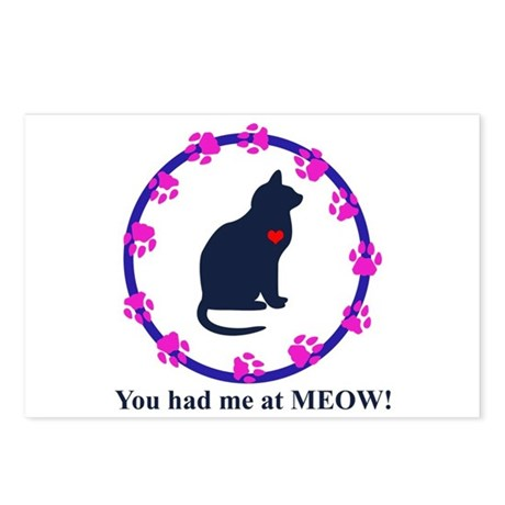 You Had Me at Meow Postcards (Package of 8)