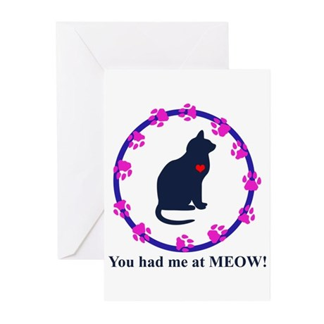 You Had Me at Meow Greeting Cards (Pk of 20)