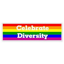 """""""Celebrate Diversity"""" Bumper Car Sticker"""