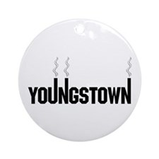 Youngstown Smokestack Ornament (Round)