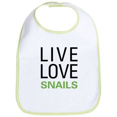 Live Love Snails Bib