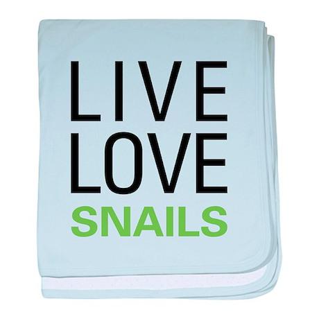 Live Love Snails baby blanket