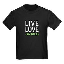 Live Love Snails T