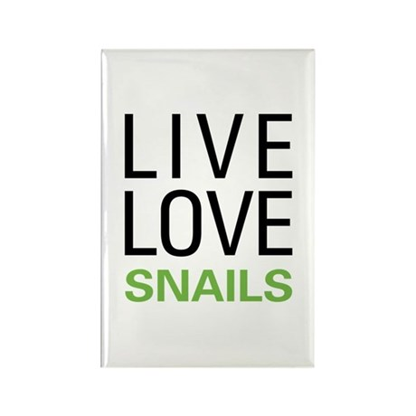 Live Love Snails Rectangle Magnet (10 pack)