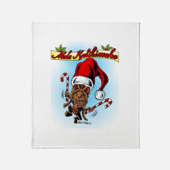 Dancing Christmas Tiki Throw Blanket