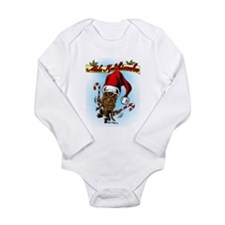 Dancing Christmas Tiki Long Sleeve Infant Bodysuit