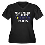 Quality Swedish Parts Women's Plus Size V-Neck Dar