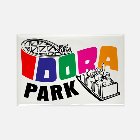 Idora Park Rollercoaster Rectangle Magnet
