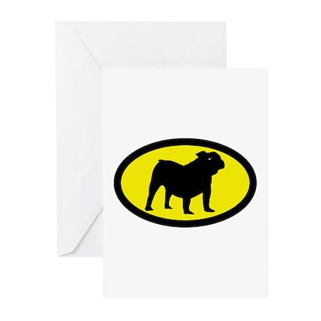 Old English Bulldog Greeting Cards (Pk of 10)
