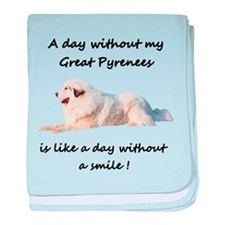 Without my Great Pyrenees baby blanket