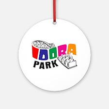 Idora Park Color Rollercoaster Ornament (Round)