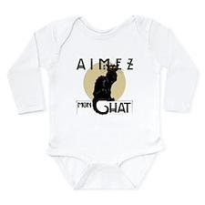 Love My Cat Long Sleeve Infant Bodysuit