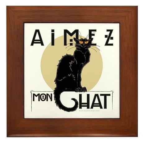 Love My Cat Framed Tile