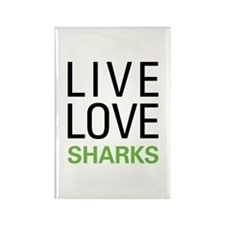 Live Love Sharks Rectangle Magnet