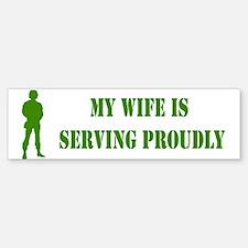 """""""Wife In Military"""" Bumper Bumper Bumper Sticker"""