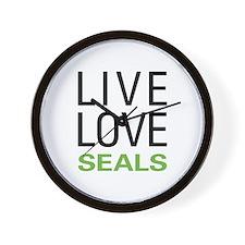Live Love Seals Wall Clock