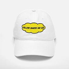 Yellow Makes Me Sad Baseball Baseball Cap
