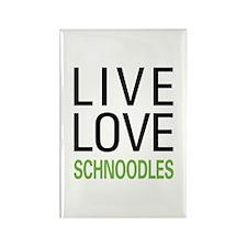 Live Love Schnoodles Rectangle Magnet (100 pack)