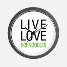 Live Love Schnoodles Wall Clock
