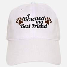 Rescued Dog Best Friend Baseball Baseball Cap