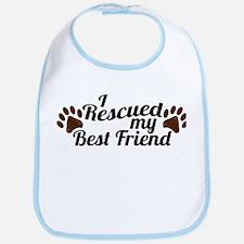 Rescued Dog Best Friend Bib