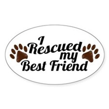 Rescued Dog Best Friend Decal