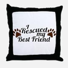 Rescued Dog Best Friend Throw Pillow