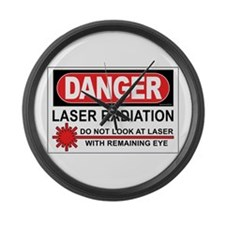 Laser Large Wall Clock