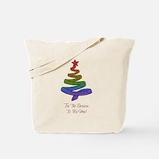 Unique Lesbian christmas Tote Bag