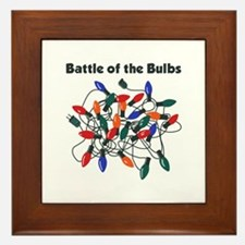 """Battle of the Bulbs"" Framed Tile"