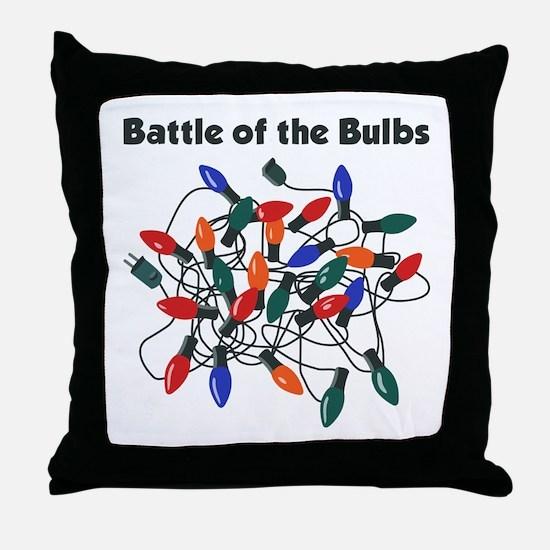 """Battle of the Bulbs"" Throw Pillow"