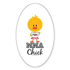 MMA Chick Decal