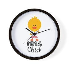 MMA Chick Wall Clock