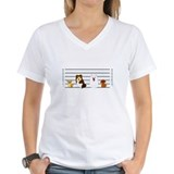 Eskimo dog Womens V-Neck T-shirts
