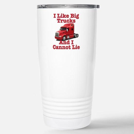 I Like Big Trucks Peterbilt Stainless Steel Travel