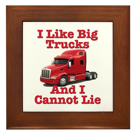 I Like Big Trucks Peterbilt Framed Tile