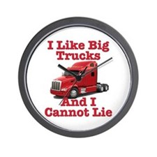 I Like Big Trucks Peterbilt Wall Clock