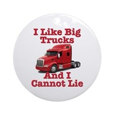 I Like Big Trucks Peterbilt Ornament (Round)