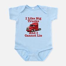 I Like Big Trucks Peterbilt Infant Bodysuit