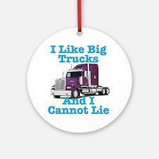 I Like Big Trucks Western Star Ornament (Round)