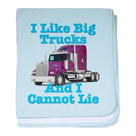 I Like Big Trucks Western Star baby blanket