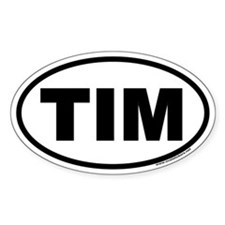 Tim Euro Oval Decal