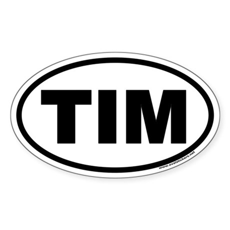 Tim Euro Oval Sticker