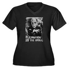 Phantom of the Opera Women's Plus Size V-Neck Dark
